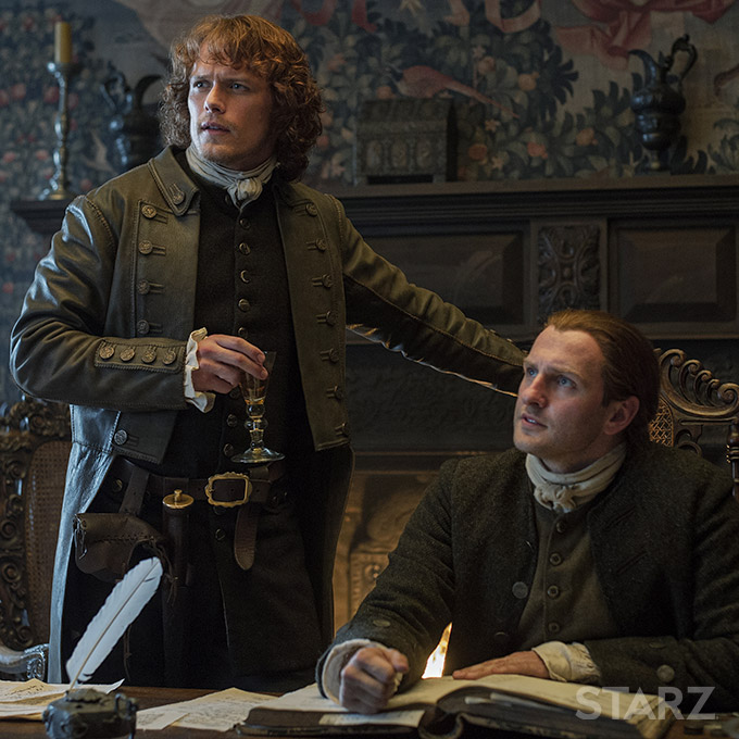 Scottish laird Jamie Fraser (Sam Heughans) in Outlander, season 1 (2014-15)
